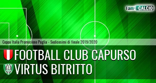 Football Club Capurso - Virtus Bitritto