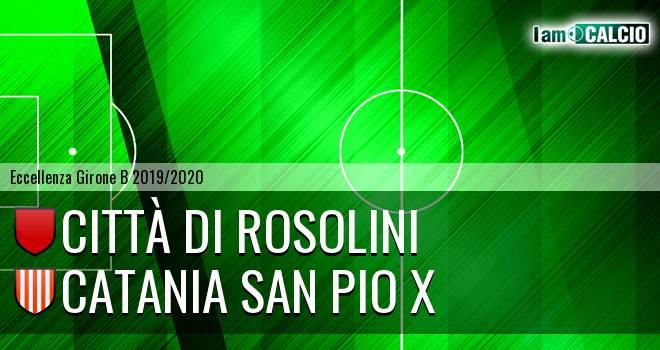 Città di Rosolini - Catania San Pio X
