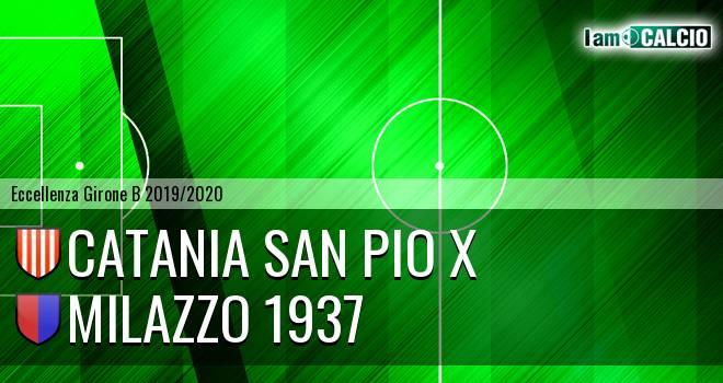 Catania San Pio X - Milazzo 1937