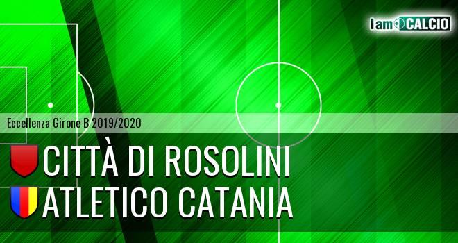 Città di Rosolini - Atletico Catania