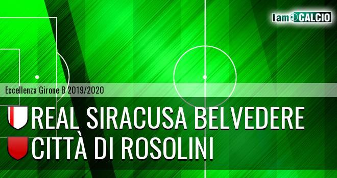 Real Siracusa Belvedere - Città di Rosolini