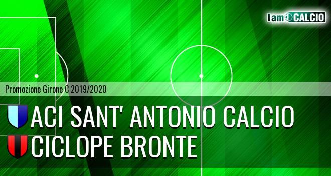 Aci Sant' Antonio Calcio - Ciclope Bronte
