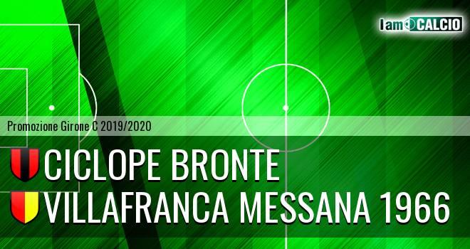 Ciclope Bronte - Villafranca Messana 1966