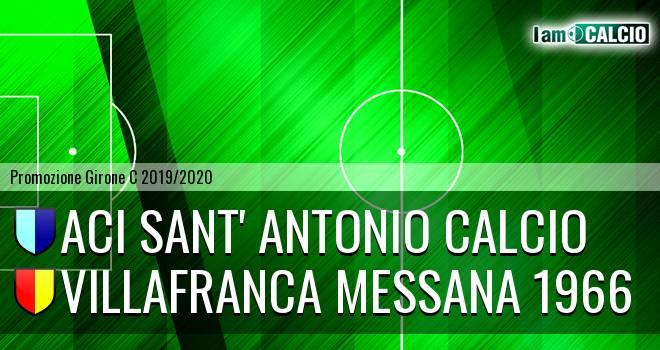 Aci Sant' Antonio Calcio - Villafranca Messana 1966