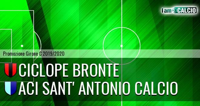 Ciclope Bronte - Aci Sant' Antonio Calcio