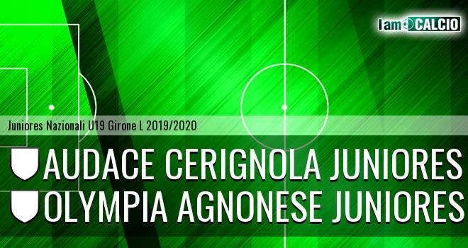 Audace Cerignola Juniores - Olympia Agnonese Juniores