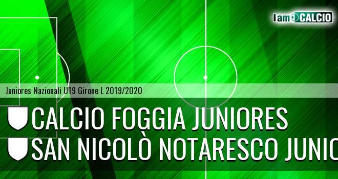 Foggia Juniores - San Nicolò Notaresco Juniores