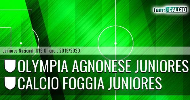 Olympia Agnonese Juniores - Foggia Juniores