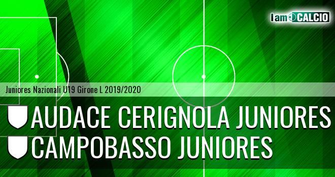 Audace Cerignola Juniores - Campobasso Juniores