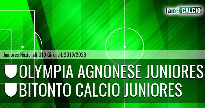 Olympia Agnonese Juniores - Bitonto Calcio Juniores