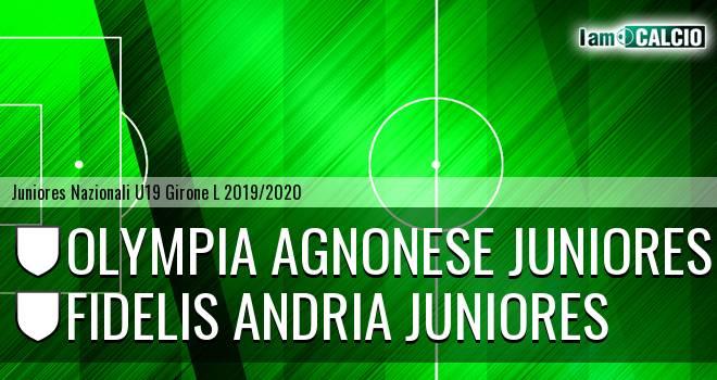 Olympia Agnonese Juniores - Fidelis Andria Juniores