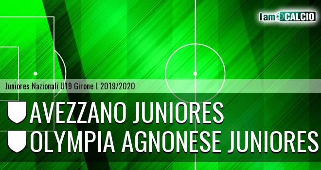 Avezzano Juniores - Olympia Agnonese Juniores