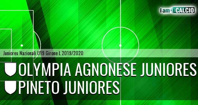 Olympia Agnonese Juniores - Pineto Juniores