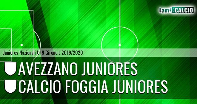 Avezzano Juniores - Foggia Juniores