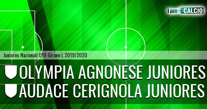 Olympia Agnonese Juniores - Audace Cerignola Juniores