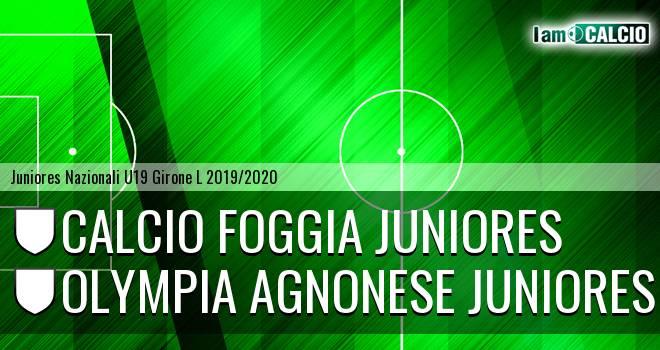 Foggia Juniores - Olympia Agnonese Juniores