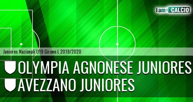Olympia Agnonese Juniores - Avezzano Juniores