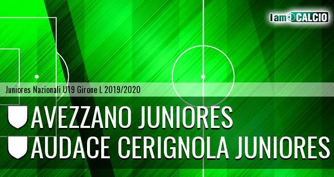 Avezzano Juniores - Audace Cerignola Juniores