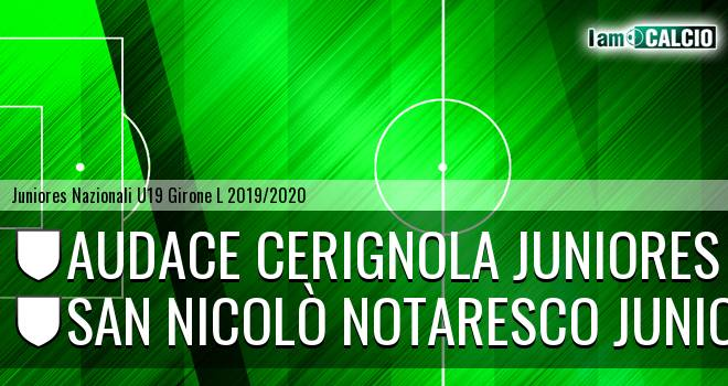 Audace Cerignola Juniores - San Nicolò Notaresco Juniores