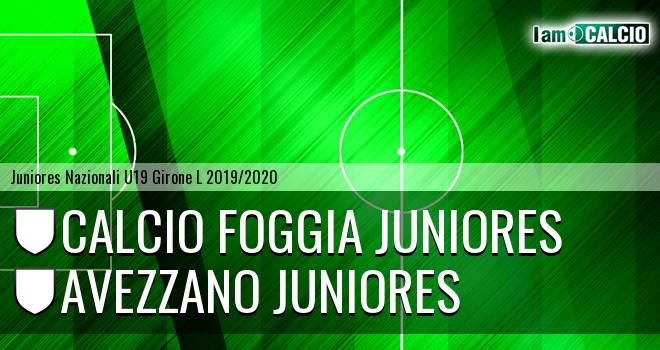 Foggia Juniores - Avezzano Juniores