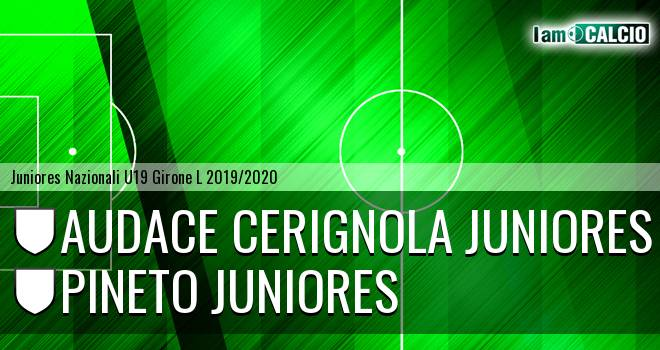Audace Cerignola Juniores - Pineto Juniores