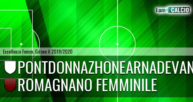 Pontdonnazhonearnadevanco - Romagnano Femminile