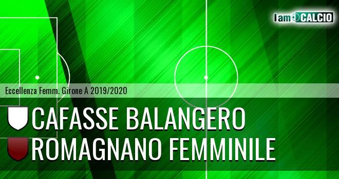 Cafasse Balangero - Romagnano Femminile