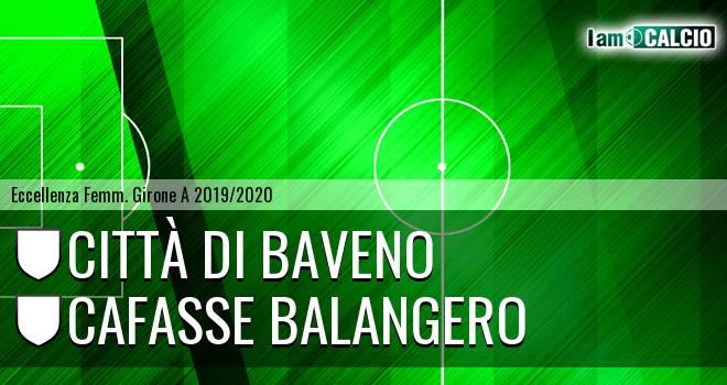Città di Baveno femminile - Cafasse Balangero