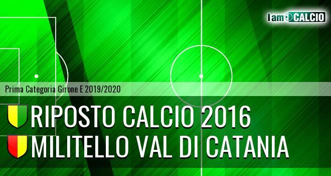 Riposto Calcio 2016 - Militello Val di Catania
