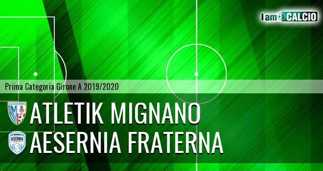 Atletik Mignano - Aesernia Fraterna