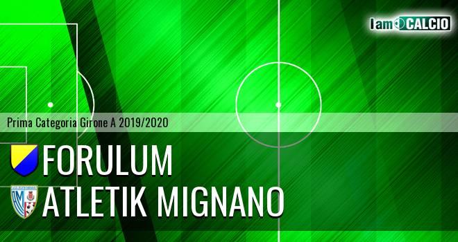 Forulum - Atletik Mignano