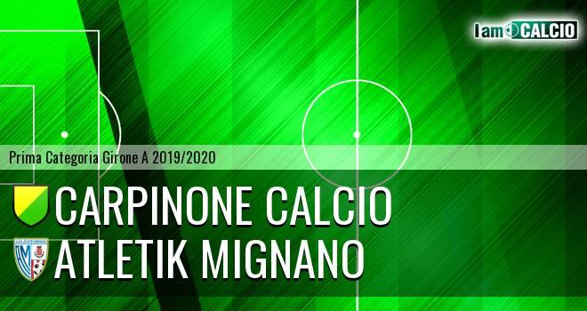 Carpinone Calcio - Atletik Mignano