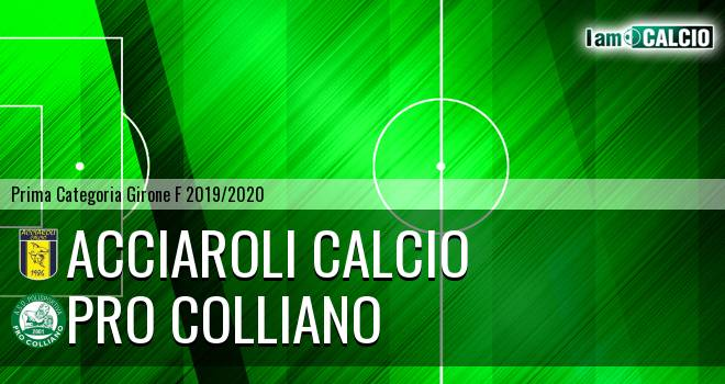 Acciaroli calcio - Pro Colliano