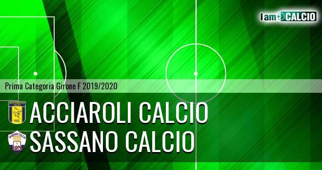 Acciaroli calcio - Sassano Calcio
