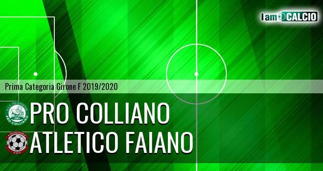 Pro Colliano - Atletico Faiano