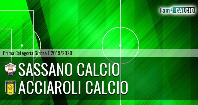 Sassano Calcio - Acciaroli calcio