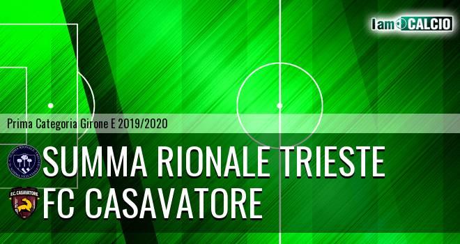 Summa Rionale Trieste - FC Casavatore