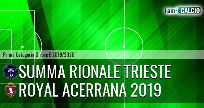 Summa Rionale Trieste - Royal Acerrana 2019