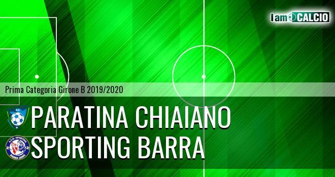 Paratina Chiaiano - Sporting Barra