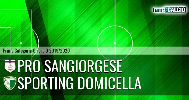 Pro Sangiorgese - Sporting Domicella