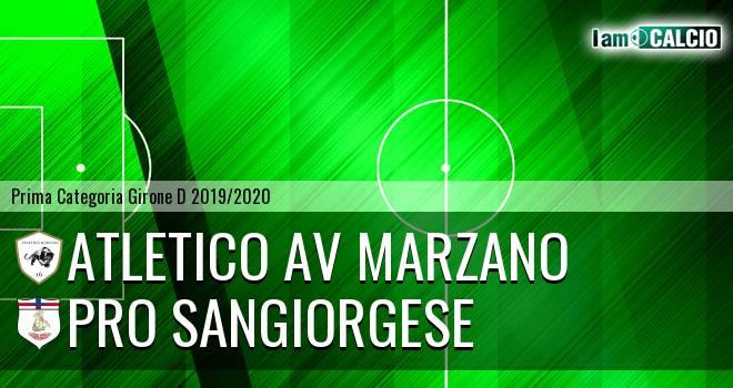Atletico AV Marzano - Pro Sangiorgese