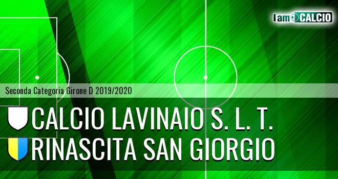 Calcio Lavinaio S. L. T. - Rinascita San Giorgio
