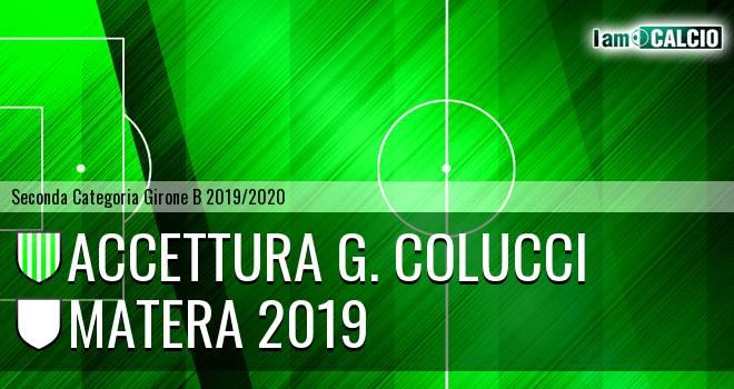 Accettura G. Colucci - Matera 2019