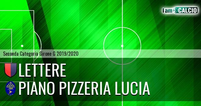 Lettere - Piano Pizzeria Lucia