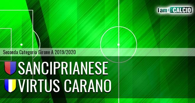 Sanciprianese - Virtus Carano