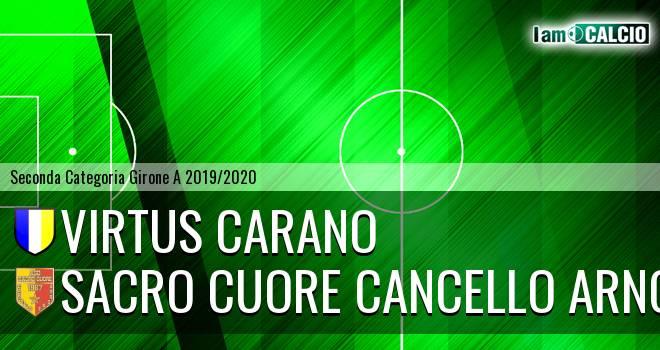 Virtus Carano - Sacro Cuore Cancello Arnone