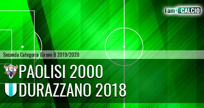 Paolisi 2000 - Durazzano 2018