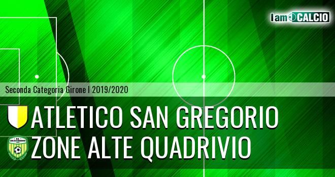 Atletico San Gregorio - Zone Alte Quadrivio