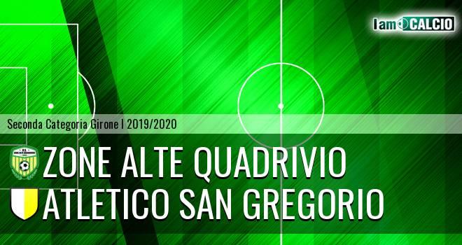 Zone Alte Quadrivio - Atletico San Gregorio