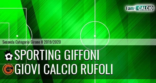 Sporting Giffoni - Giovi Calcio Rufoli